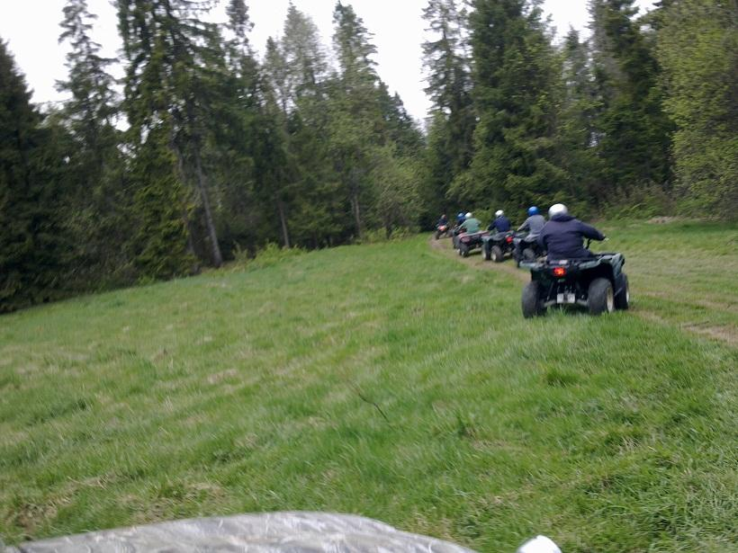 Quadding in the mountains in poland